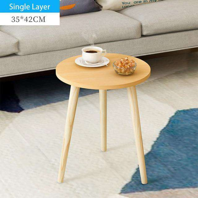 Creative Nordic Wood Round Coffee Table - Nyrod Network- Nyrod