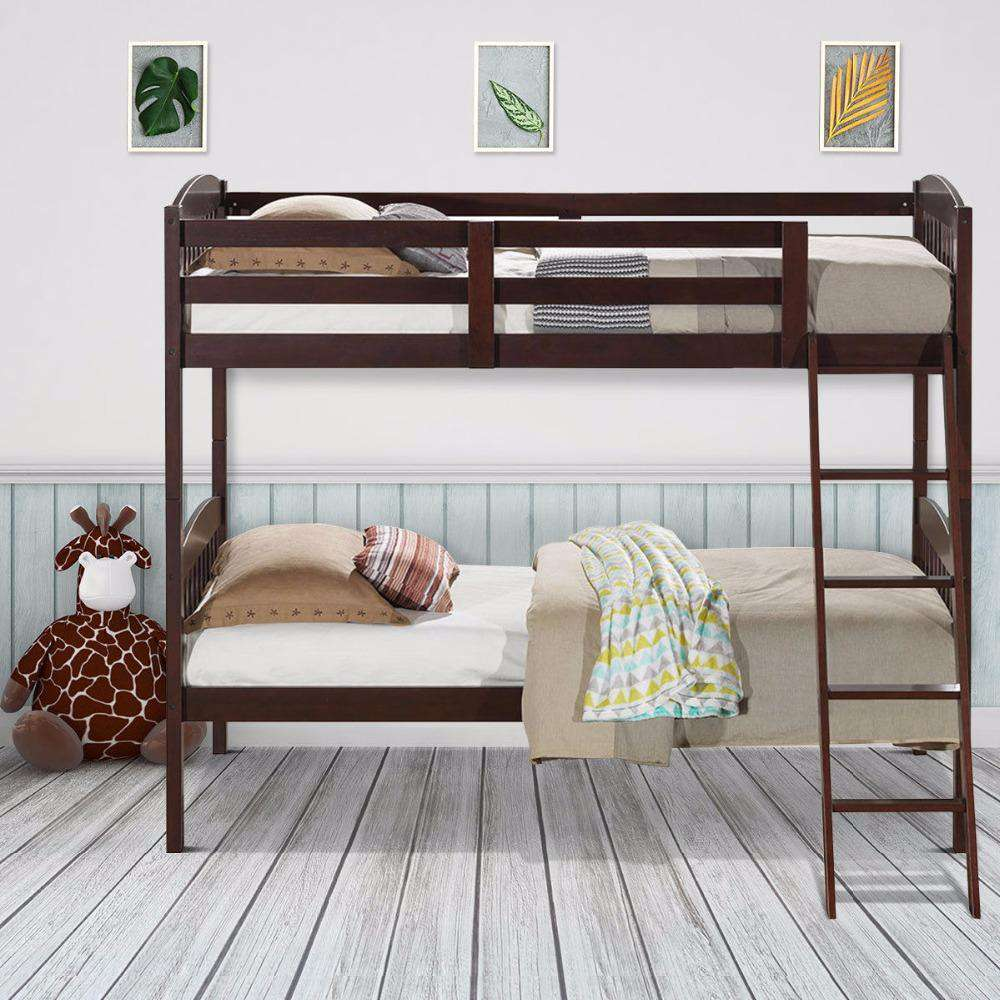 Solid Hardwood Twin Bunk Beds - Nyrod- Nyrod