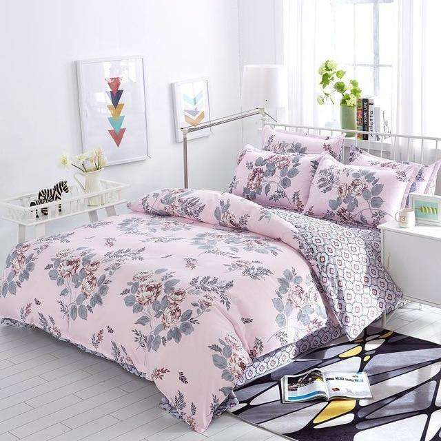 Purple Pastoral Flowers Style Bedding Set - Nyrod- Nyrod