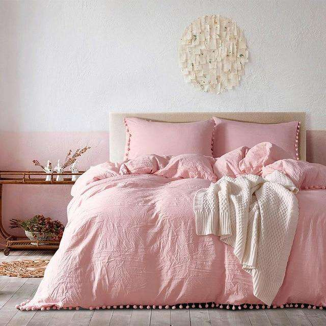 Wihte Pink Bedding Sets - Nyrod- Nyrod