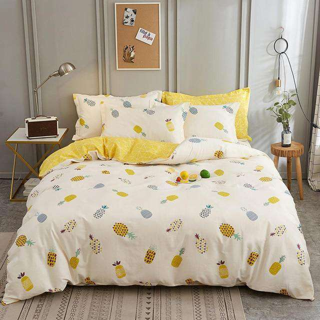 Luxury Pure Cotton Plaid Printed Bedding Sets - Nyrod- Nyrod