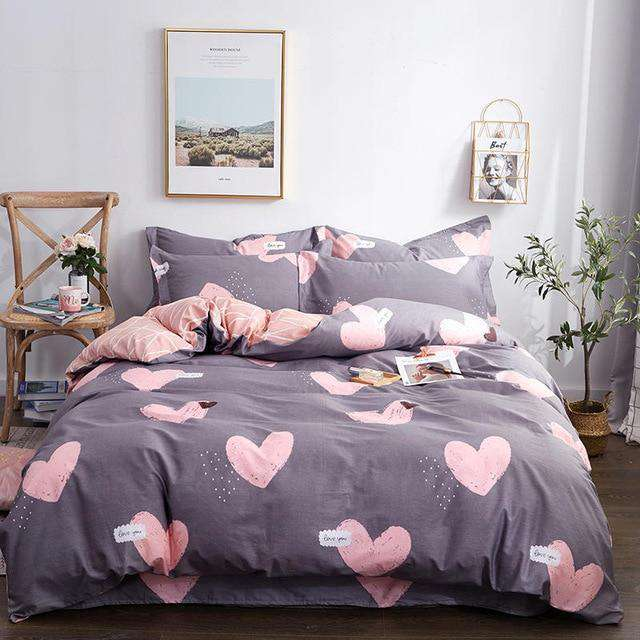 100% Cotton King Queen size Bedding Set - Nyrod Network- Nyrod