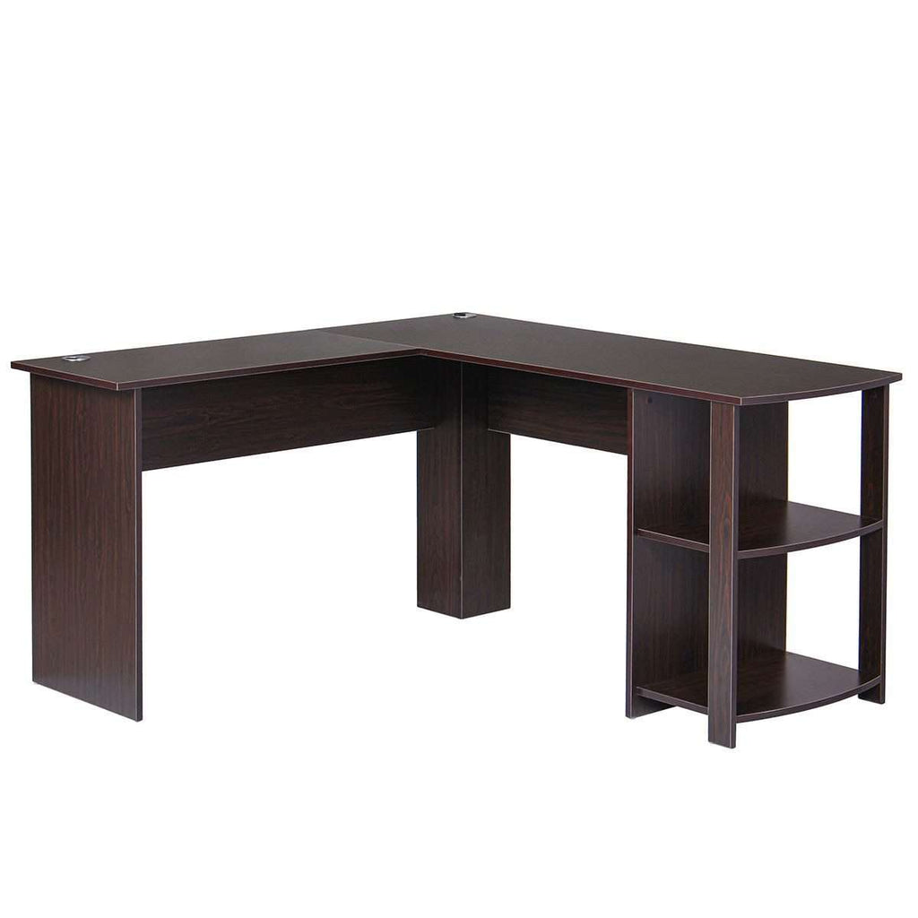 New Wooden L-Shape Corner Study Computer Table - Nyrod- Nyrod
