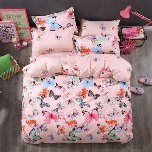 Flower Printed For Teen Adult Girl Bedding Set - Nyrod- Nyrod