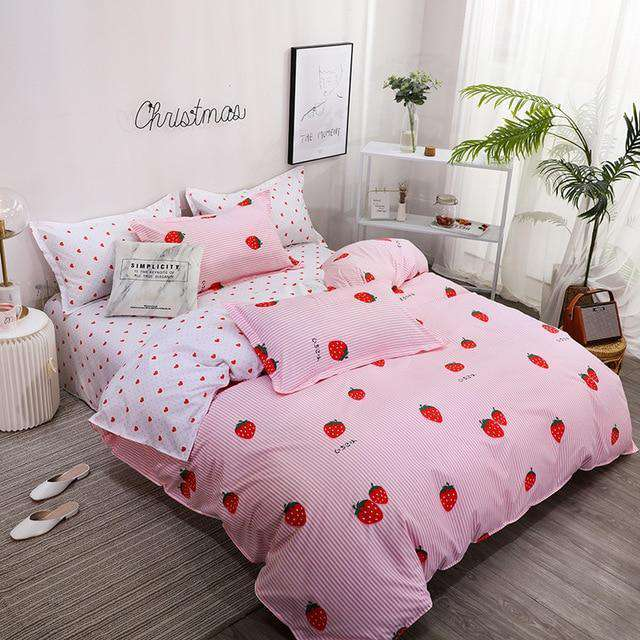 Cute Bed linens peach print set - Nyrod- Nyrod