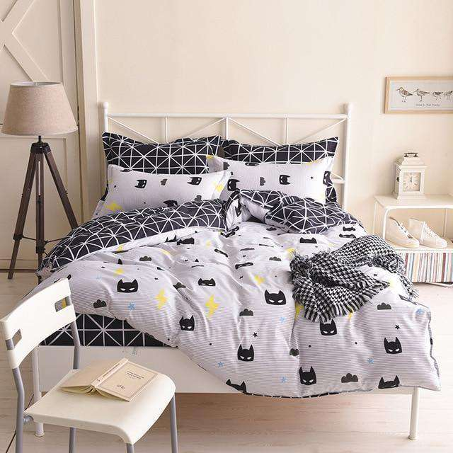 Gray Flowers Duvet Cover Single Soft Bedclothes - Nyrod- Nyrod