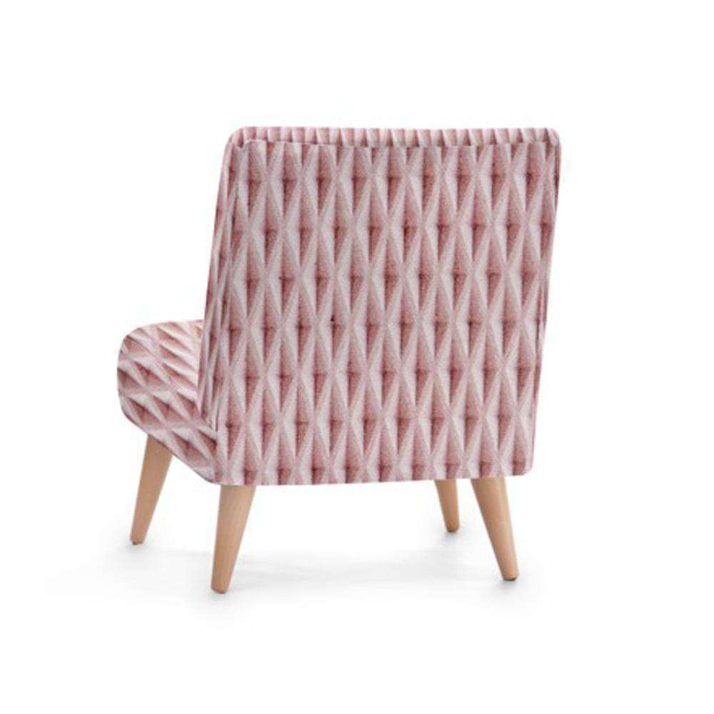 Pink Diamond Print Accent Occasional Chair - Nyrod Network- Nyrod