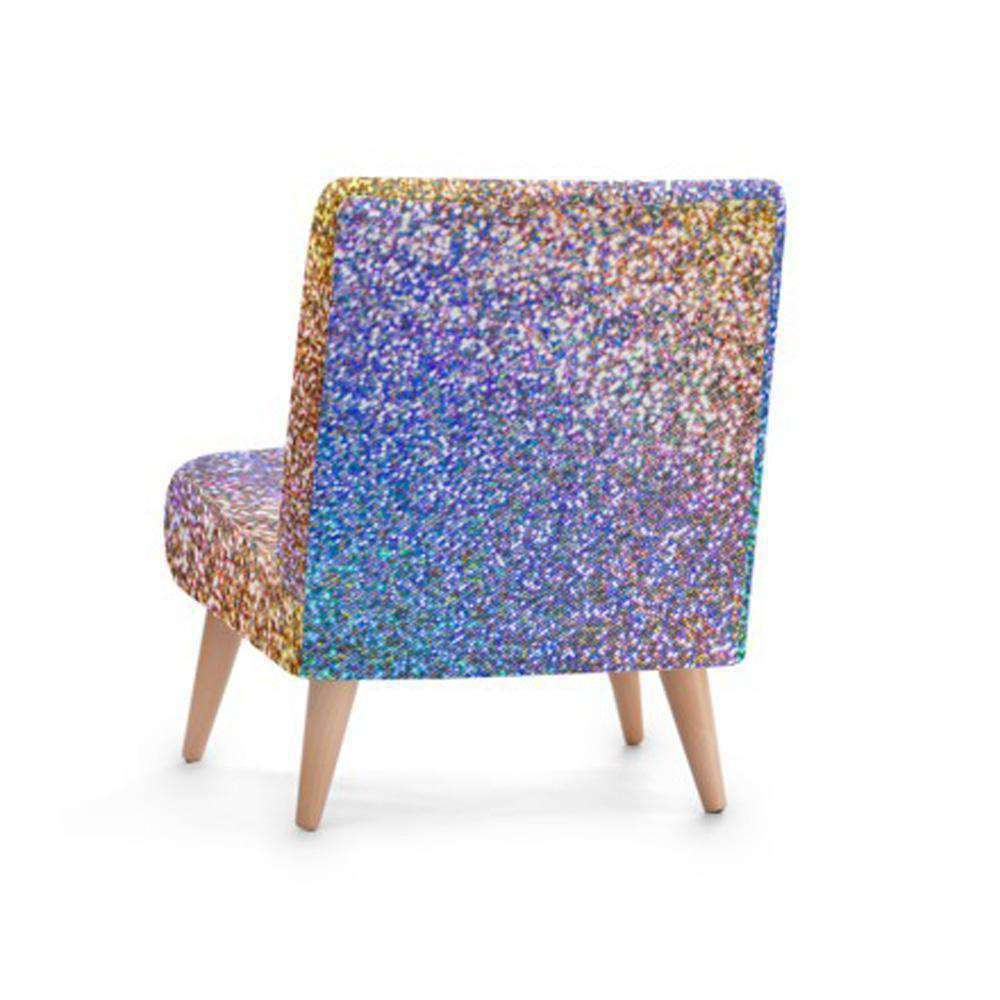 Luxury Glitter Print Accent Occasional Chair - Nyrod Network- Nyrod
