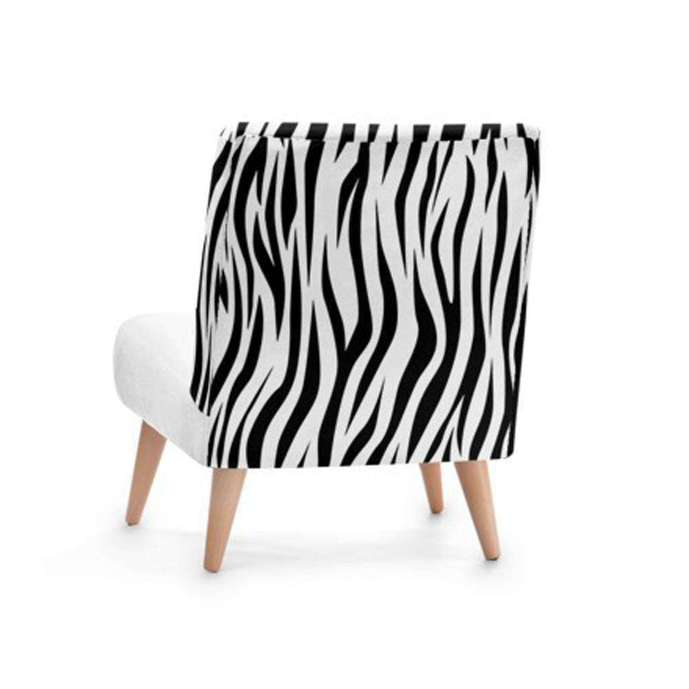 Zebra Print Accent Occasional Chair - Nyrod Network- Nyrod