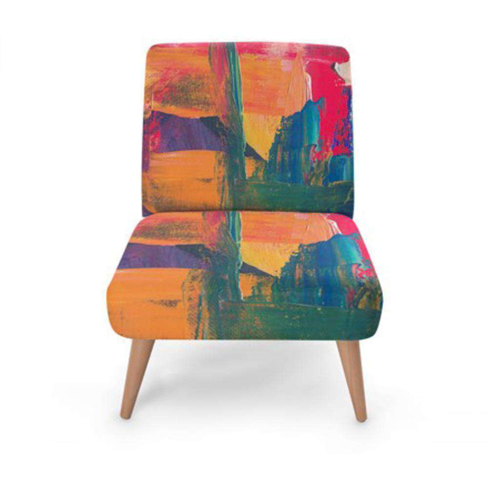 Abstract Colour Accent Occasional Chair - Nyrod Network- Nyrod