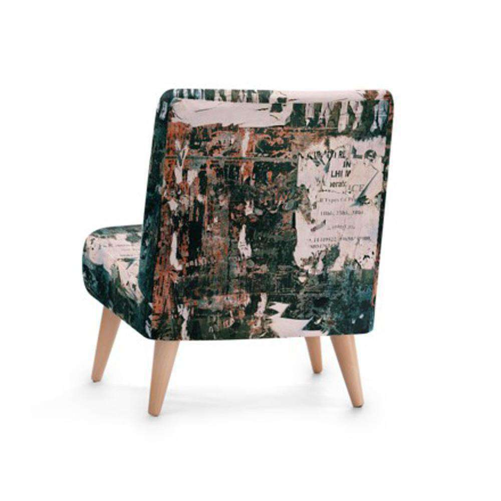 Abstract Print Accent Occasional Chair - Nyrod Network- Nyrod