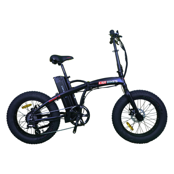 Civi Rebel Fat Tire Folding 48V 500W Twist Throttle 20