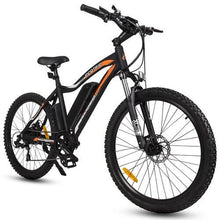 "Load image into Gallery viewer, Ecotric Leopard Rear Hub 500W 36V 12AH Battery Smart LCD 26"" Narrow Tires Matt Black Electric Mountain Bike"