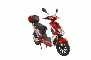 X-Treme Cabo Moped Cruiser Electric Scooter with Seat 48V 500W Ebike w/ Pedals