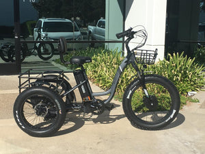 Emojo Caddy Step Thru 48V 500W  Fat Tire Electric Trike