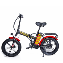 "Load image into Gallery viewer, Green Bike Electric Bike Big Dog Extreme 20"" Folding Fat Tire Ebike 750W 48V LCD Display"