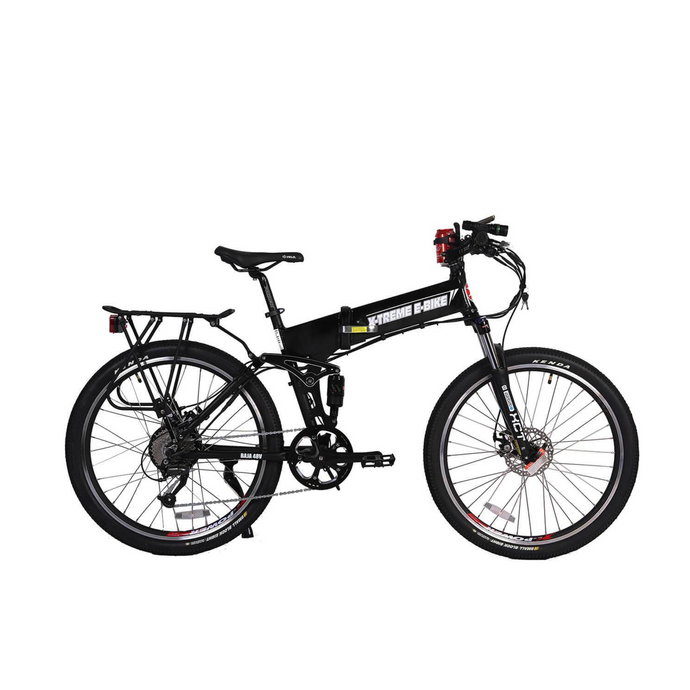 X-Treme Baja 48 Volt 500W Folding Full Suspension Electric Mountain Bicycle