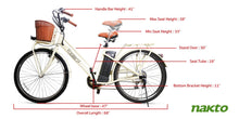"Load image into Gallery viewer, Nakto Classic City Step Thru Electric Bicycle 250W 26"" White"