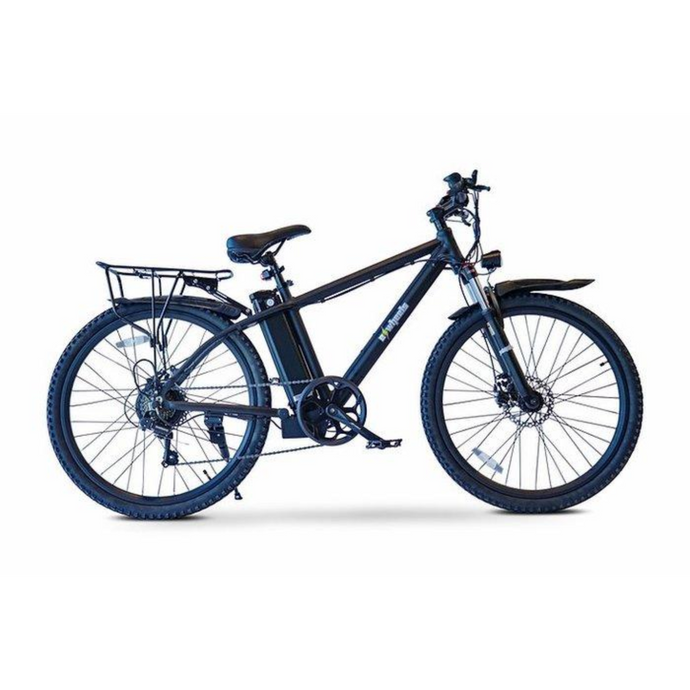 BAM Rugged 26Inch Electric Mountain Bike 5-Speed 350W 36V Ebike With Fenders