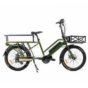 Eunorau Mid Drive Motor Electric Long Trail Cargo eBike  24'' 48V 500W For Family Wagon