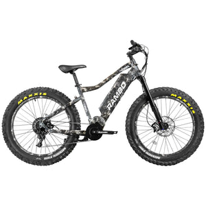 Rambo Rebel 1000Watt Mid Drive Motor Fat Tire Electric Hunting Bike 21Ah Battery