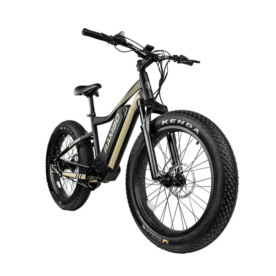 Rambo Ryder 750Watt Bafang Mid Drive Motor 24 Inch Tires 14Ah Battery Fat Tire Electric Bike  Ships Late June