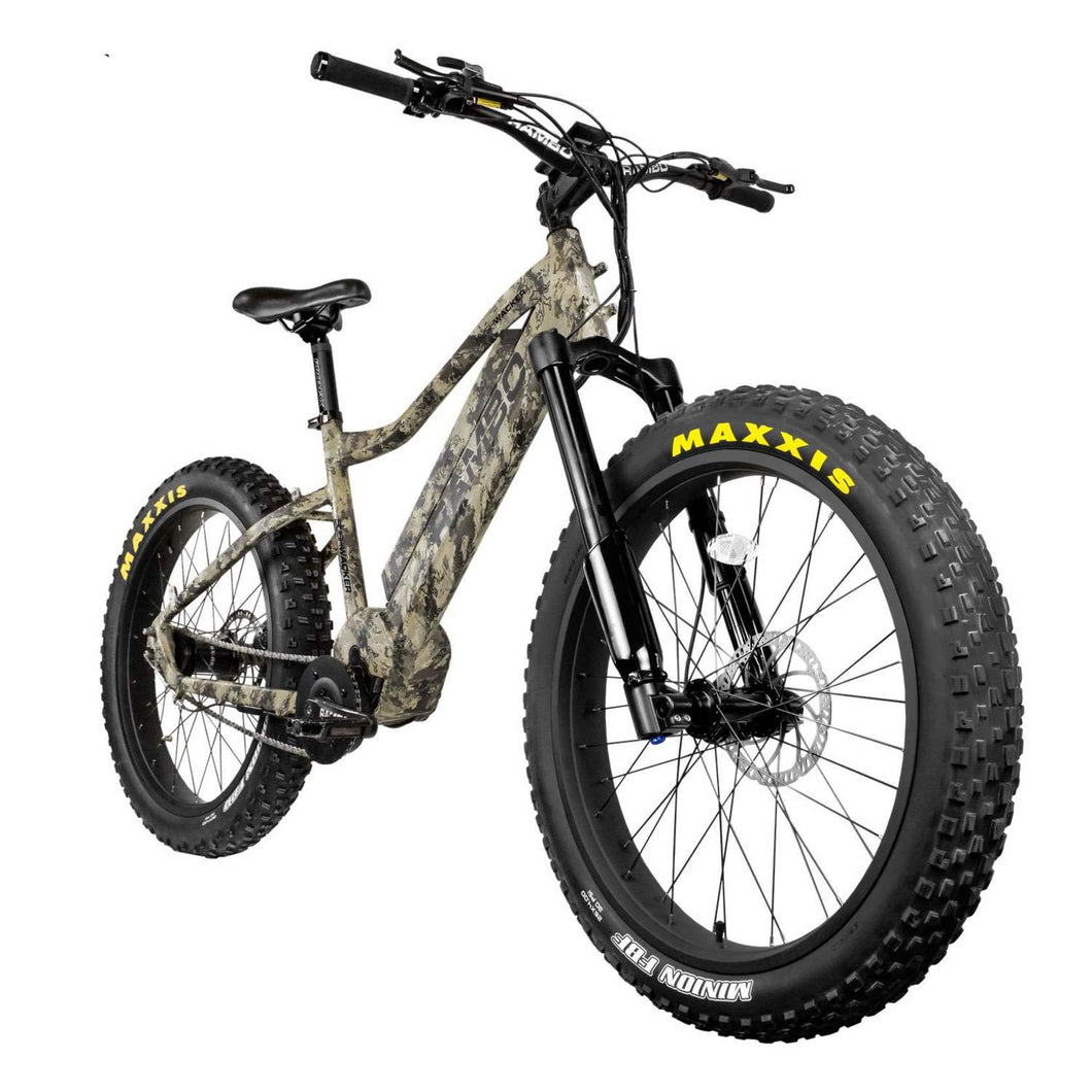 Rambo Bushwacker 750Watt Mid Drive Motor 14ah Battery Fat Tire Electric Hunting Bike