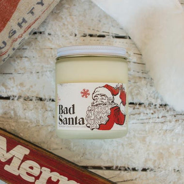 Bad Santa Soy Candle by Cellar Door Bath Supply Co. | 100% Vegan Friendly & Candles - Cellar Door Bath Supply Co.