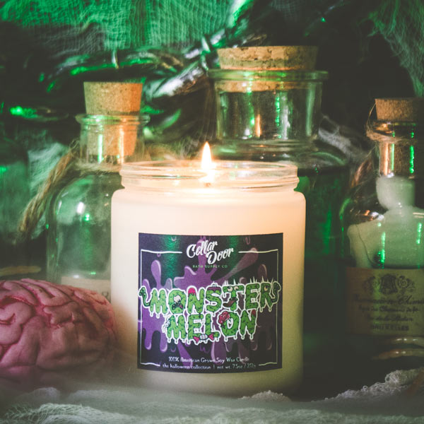 Monster Melon Soy Candle by Cellar Door Bath Supply Co. | 100% Vegan Friendly : cellar door candles - pezcame.com