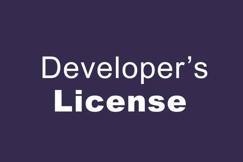 Developer's License - Pro ONLY