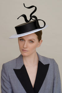 Filipa Cardoso Millinery London Black And White Boater