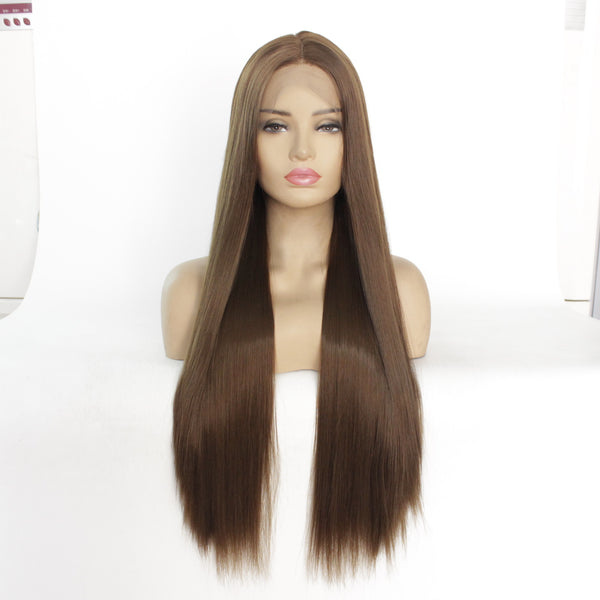 "BLINGCHOICE Human Hair Wig Nala 24"" Straight"