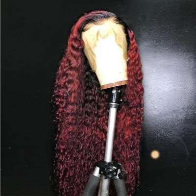 Top Quality Wig Burgundy Brazilian Virgin Hair Reddish Straight/Curly