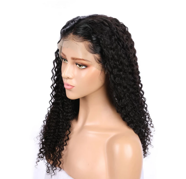 Water Wave Front Lace Curls Wigs Lady Wig
