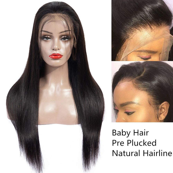 4x4 Lace Front Human Hair Straight Hair Wigs
