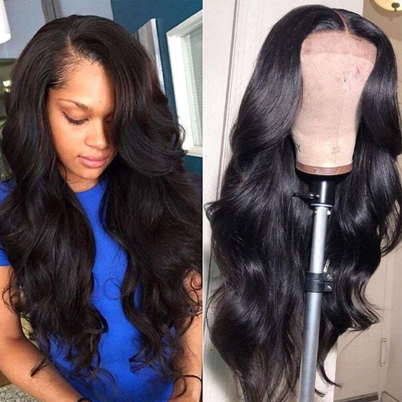 150% Denisty Lace Front Human Hair Wigs  with Baby Hair Natural Color
