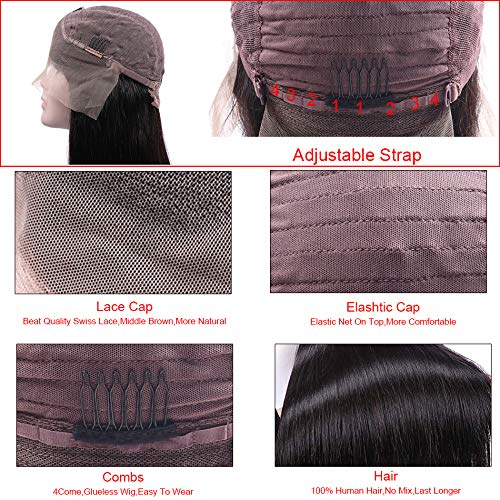 4x4 Lace Front Straight Human Hair Wigs