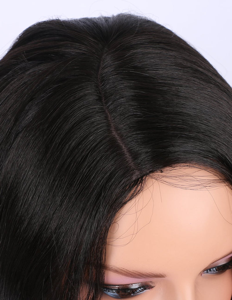 Natural Looking Long Wavy Right Side Parting Wig
