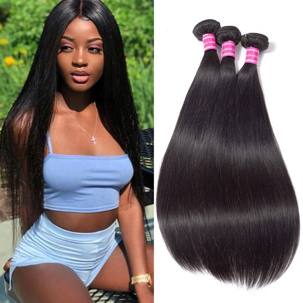 100% Unprocessed Brazilian Hair Wigs EXTENSIONS(3 Bundles)