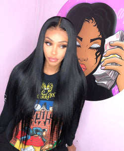 Long Straight Lace Front Wigs