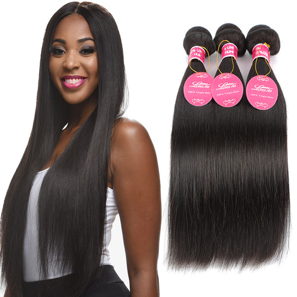 (3 Bundles)100% Unprocessed Brazilian Hair EXTENSIONS
