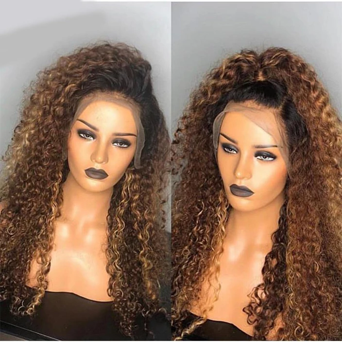 Brazilian Water Wave Lace Front Human Hair Wigs Front Lace Wigs With Baby Hair Pre Plucked Natural Hairline