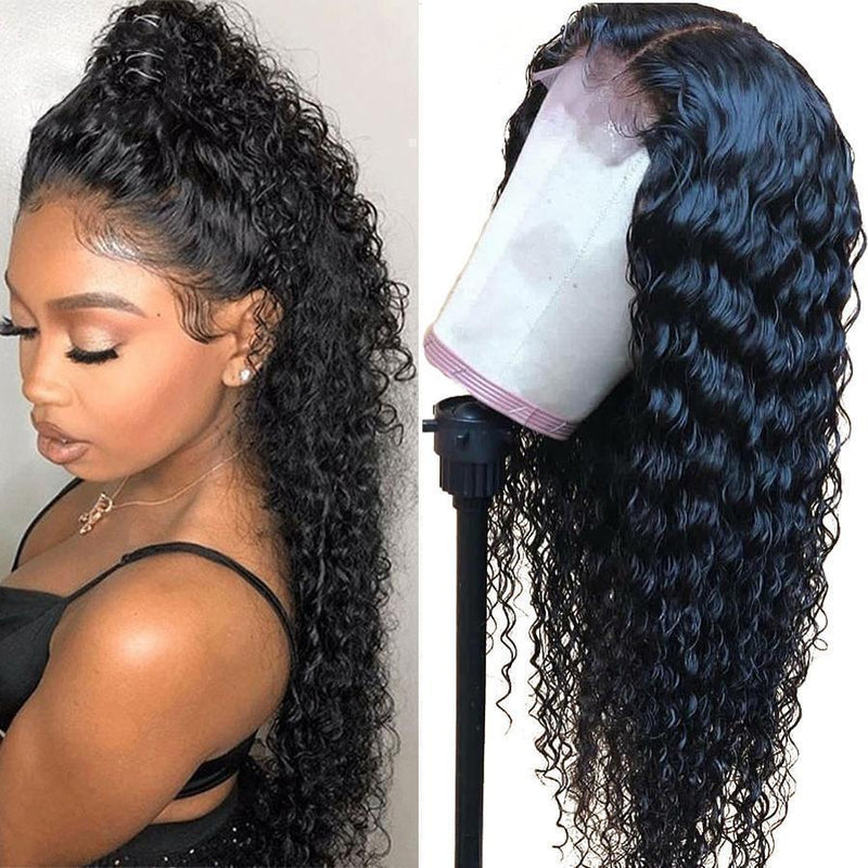 Brazilian Water Wave 360 Lace Frontal Wigs Human Hair Pre Plucked With Baby Hair