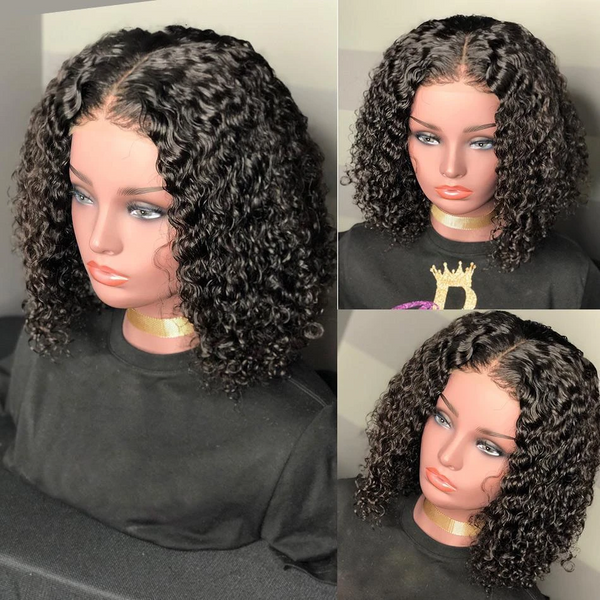 Brazilian Curly Bob Lace Front Kinky Curly Lace Front Wig 360 Lace Frontal Wig