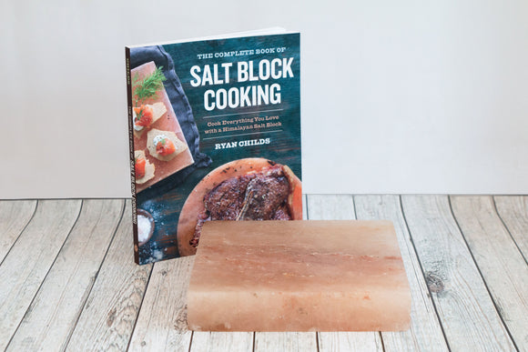 Square Himalayan Salt Cooking Block and Book