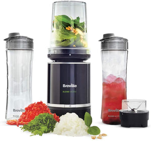 Breville Blend Active Pro Food Prep Personal Blender with Mini Food Processor and Spice Grinder VBL212