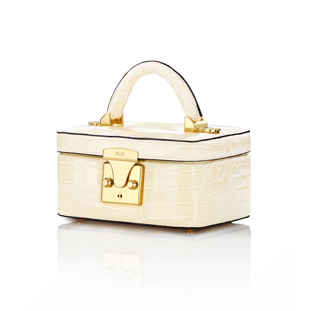 Beauty Case 1.7 Mini - Bone Alligator