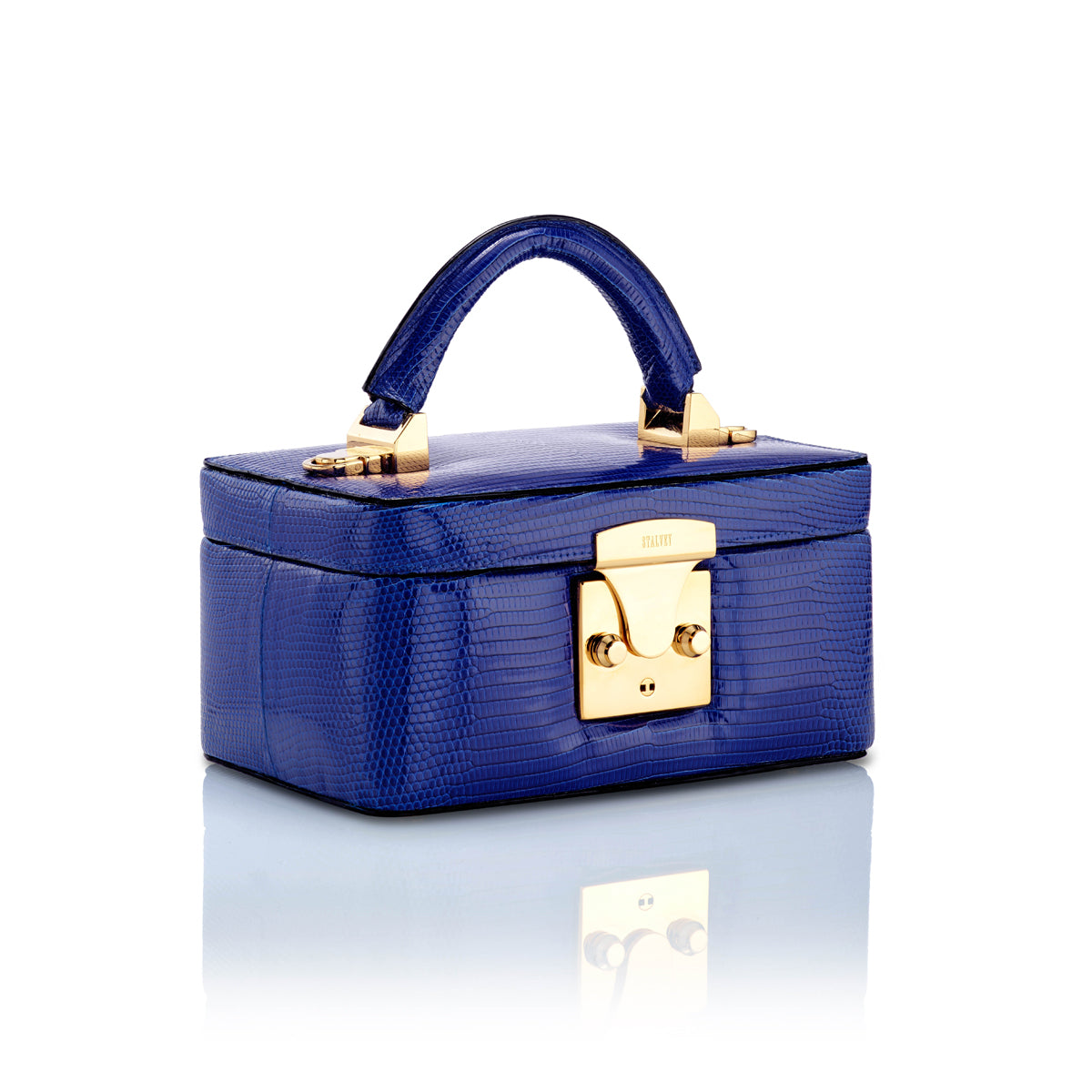 Beauty Case 1.7 Mini - Cobalt Blue Lizard