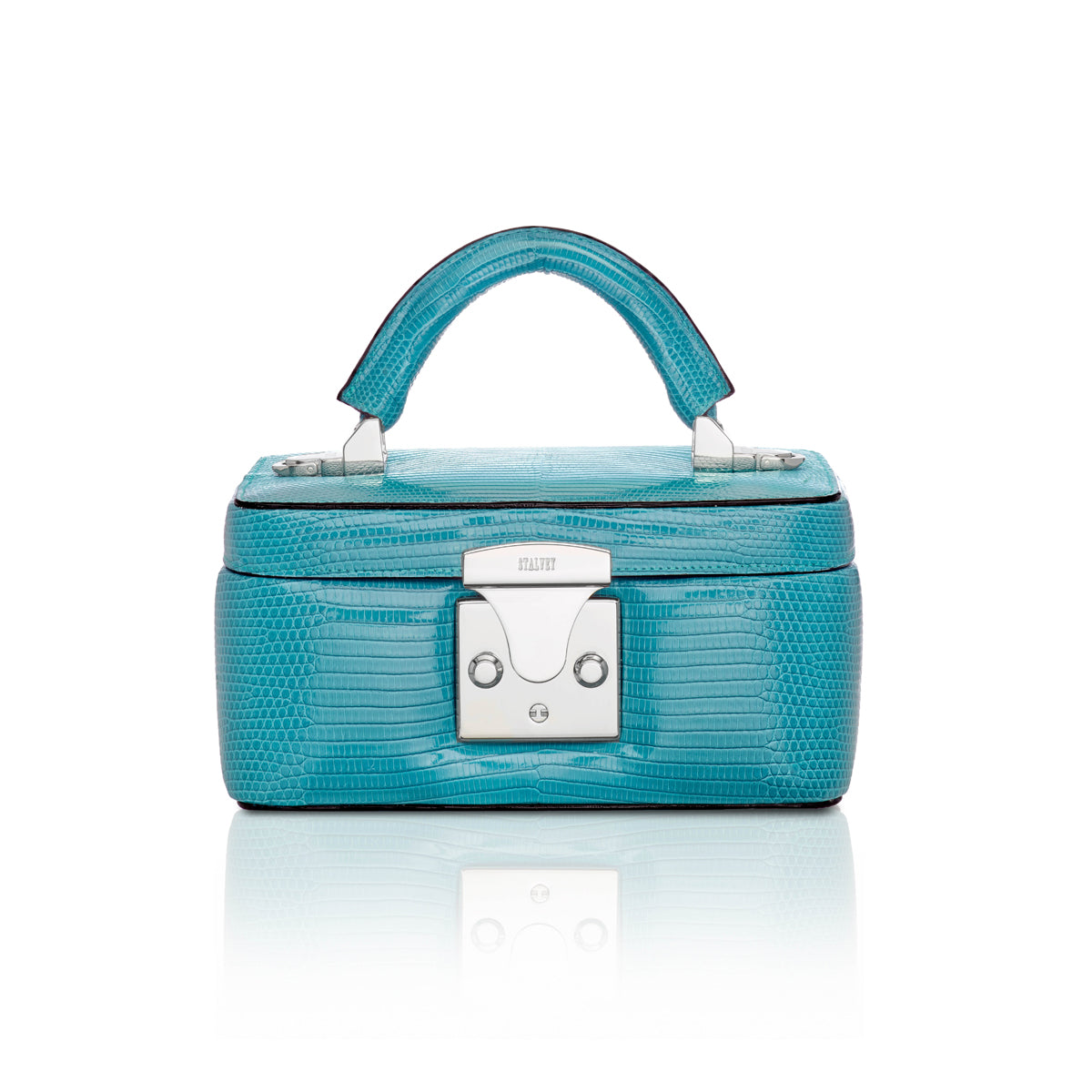 Beauty Case 1.7 Mini - Teal Lizard