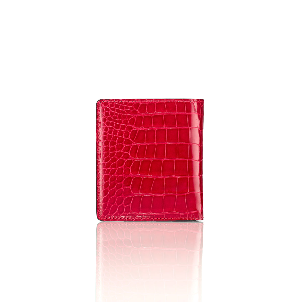 Bi-Fold Wallet - Cerise Alligator